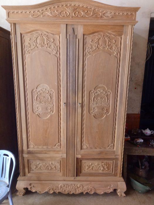 tủ áo 2 buồng gỗ lim đẹp
