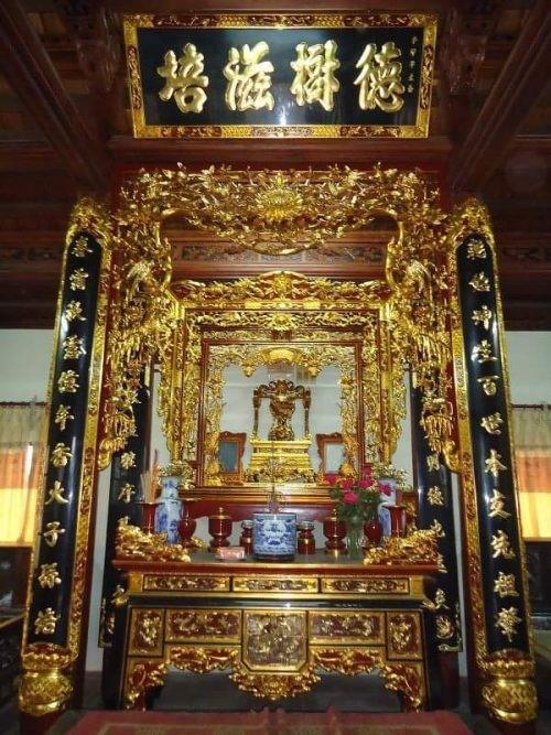 phong cách trang trí sập thờ tại Ninh Bình