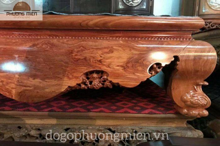sập trệt gỗ hương đá
