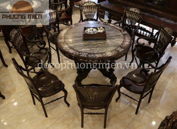 Bộ bàn ăn ghế rẻ quạt