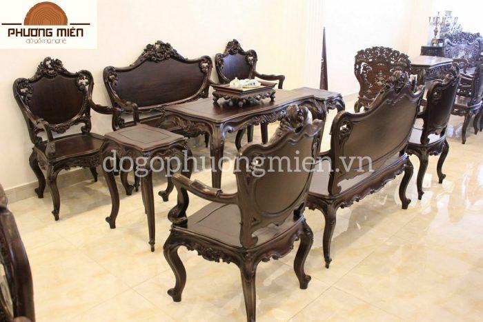 bàn ghế gỗ đẹp cho phòng khách 2019