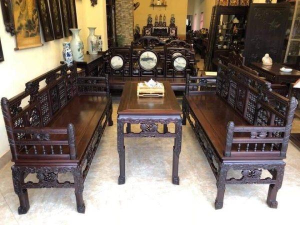 bàn ghế gỗ cho phòng khách đẹp 2019