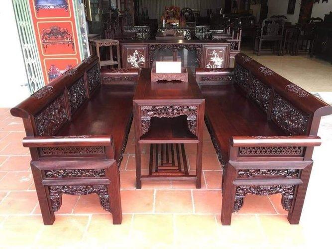 bàn ghế gỗ kiểu cổ đẹp