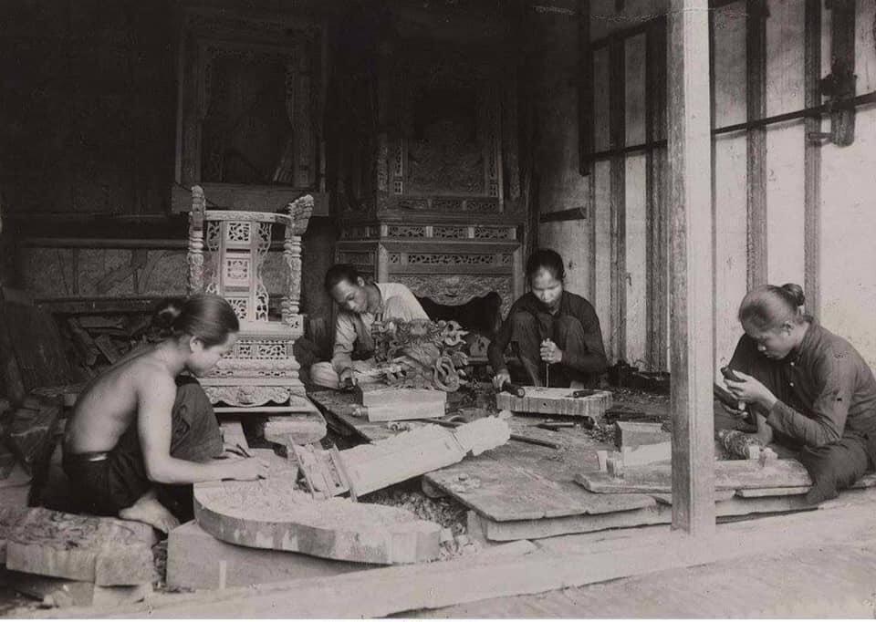 các nghệ nhân làng nghề xưa