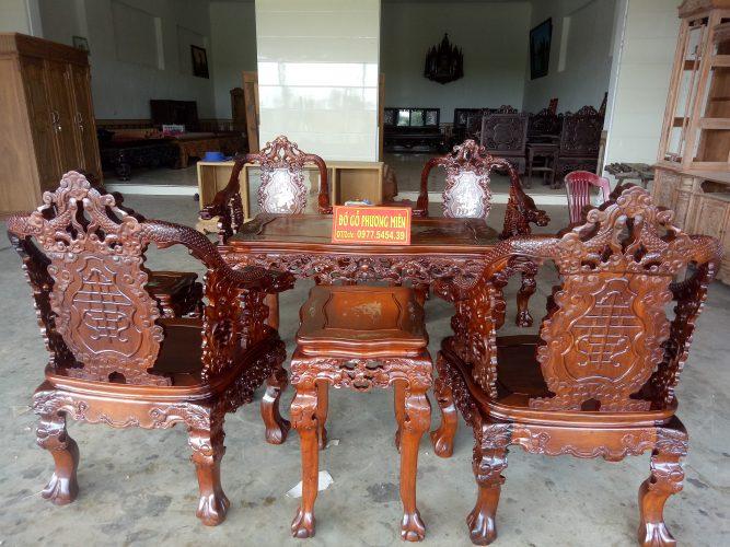 mẫu bàn ghế gỗ cho phòng khách đẹp