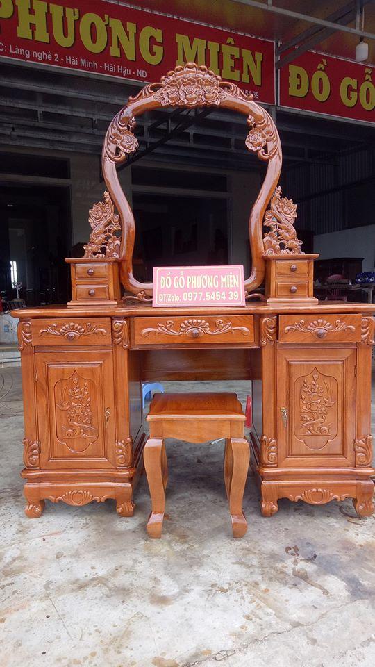 bàn trang điểm gỗ gõ đỏ