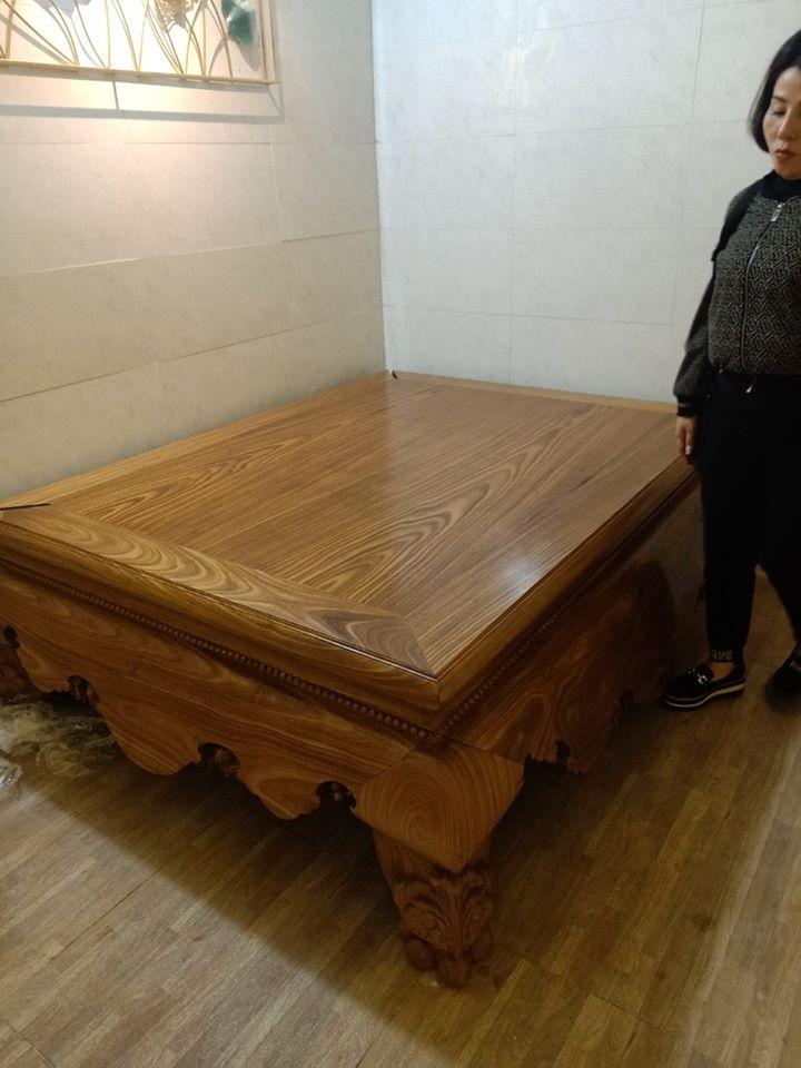 sạp tron gỗ cẩm vàng tại hà nội