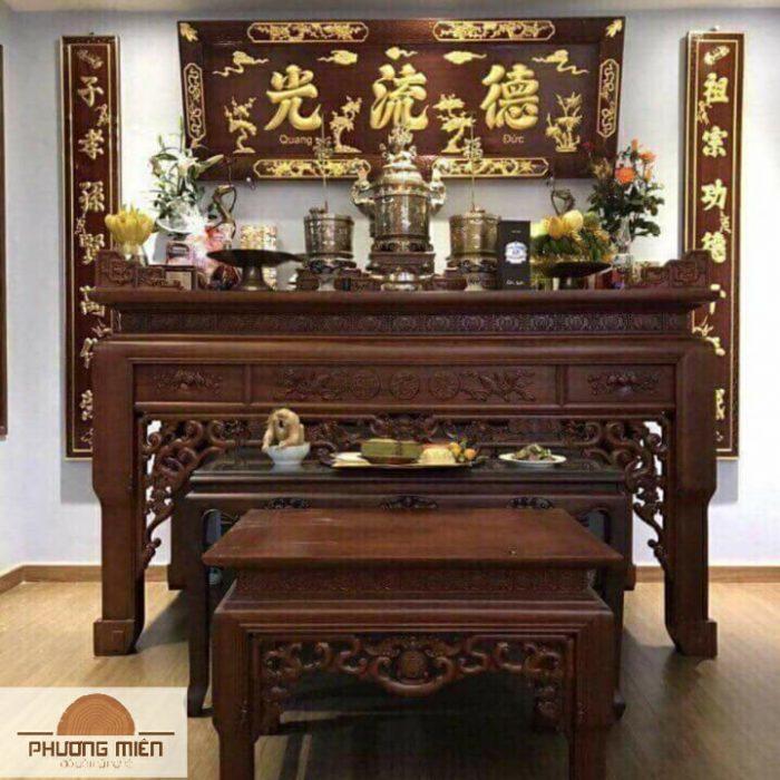 bàn thờ án gian gỗ gụ tại Nghệ an