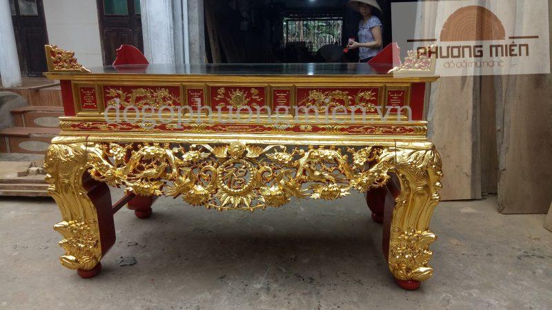 bàn thờ án gian gỗ mít tại Hà Tĩnh