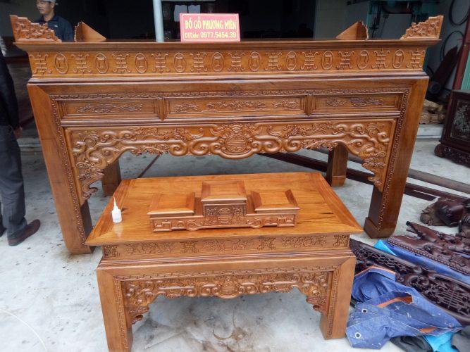 bàn thờ gỗ đẹp hiện đại trong gia đình