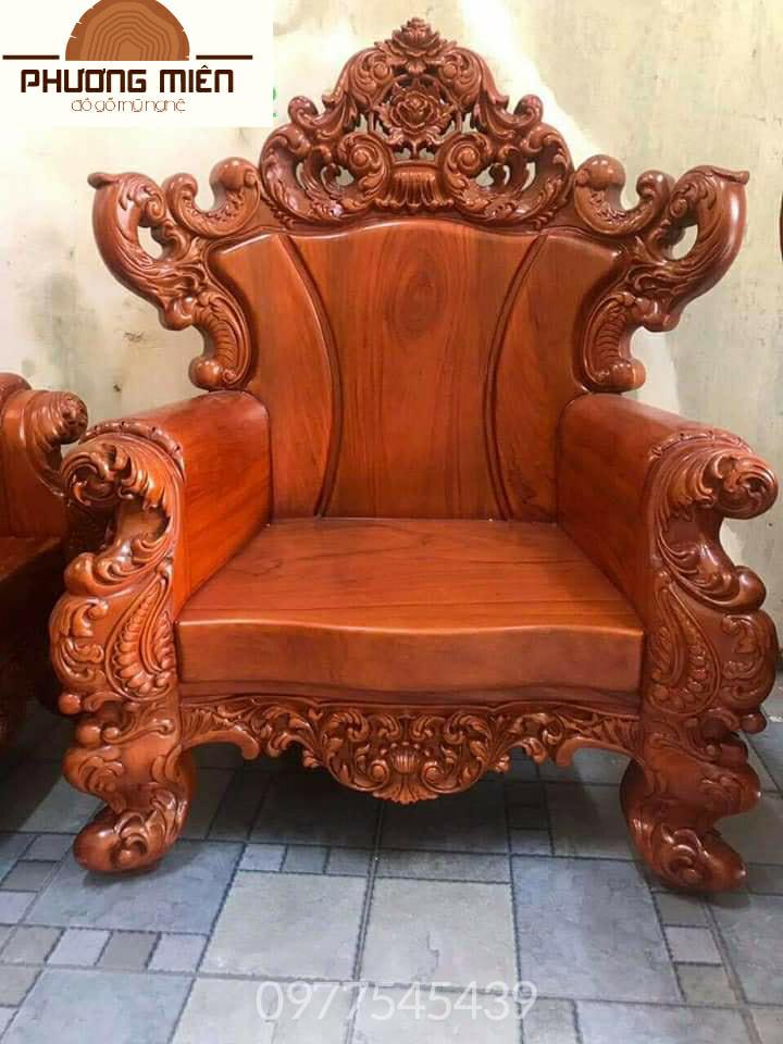 bàn ghế hoàng gia gỗ gõ đỏ