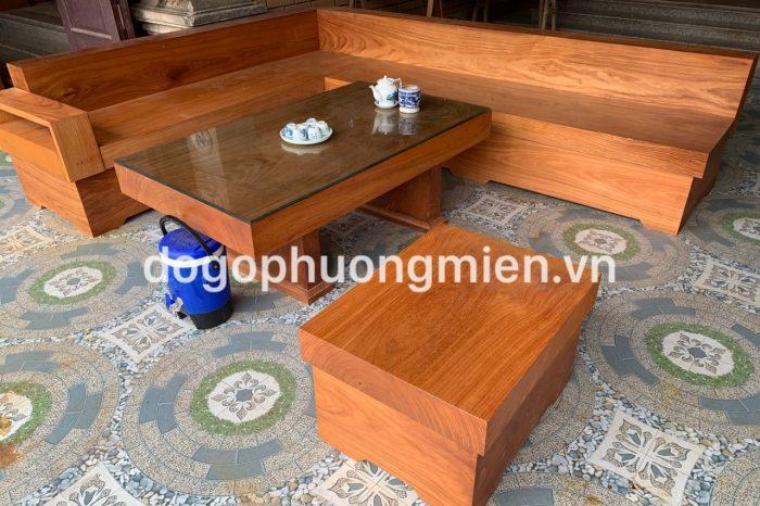 sofa gỗ gõ đỏ nguyên khối