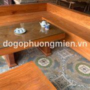 Bộ sofa gỗ gõ đỏ nguyên khối