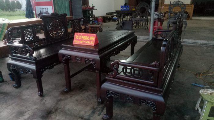 Mẫu bàn ghế trường kỷ gỗ đẹp