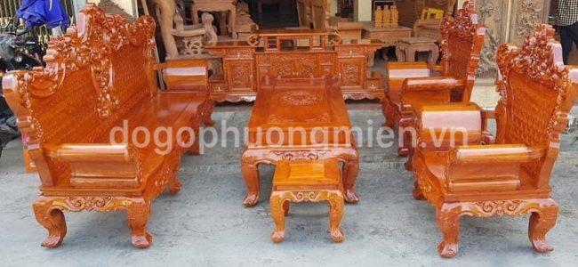 bàn ghế hoàng gia gỗ hương đá đẹp