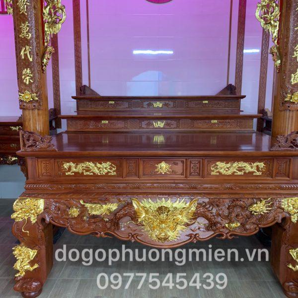 bàn thờ tam cấp gỗ gụ