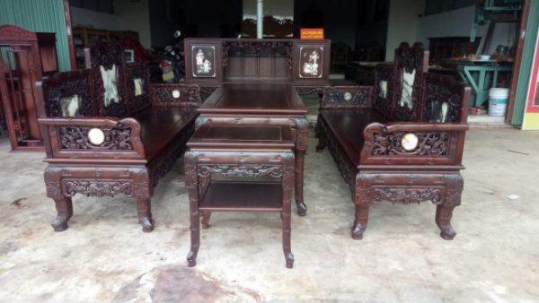bàn ghế trường kỷ gỗ phong cách cổ xưa đẹp.