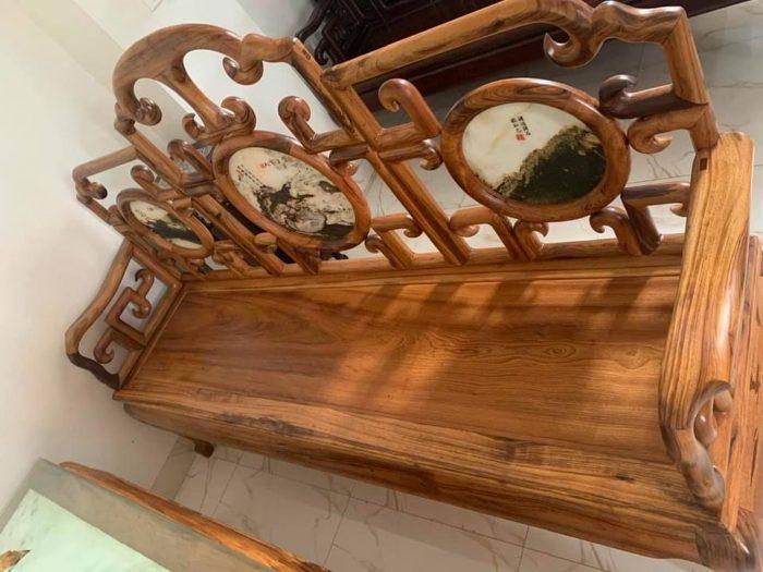 Bộ bàn ghế móc mỏ gỗ gụ ta Quảng Bình