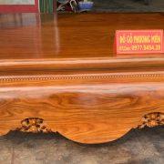 Sập trơn gỗ cẩm vàng- xu hướng thời hiện đại