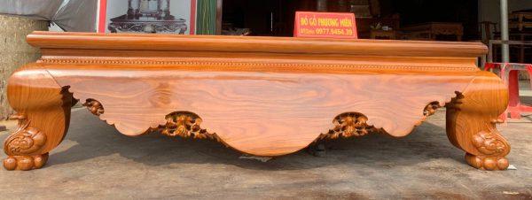 Sập trơn gỗ cẩm vàng cổ liền đẹp