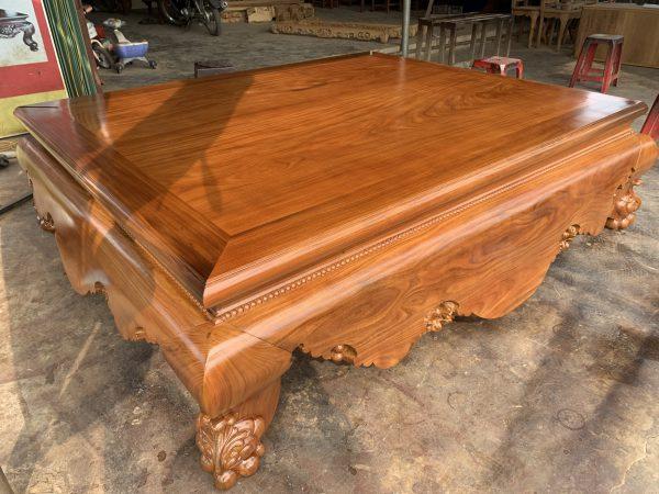 Sập trơn gỗ cẩm vàng 1m8 x2m2