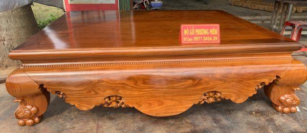 Mẫu sập trơn gỗ cẩm vàng đẹp hợp xu hướng hiện nay.